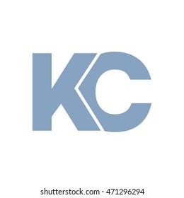 kc initial logo design