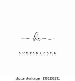 KC Initial luxury handwriting logo vector