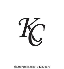 KC initial monogram logo