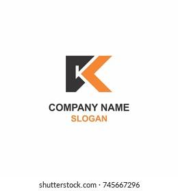 KC letter initial logo.