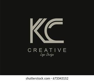 KC Logo. Letter design vector