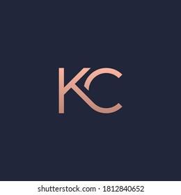 KC monogram logo gold color.