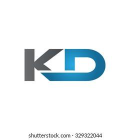 KD company linked letter logo blue