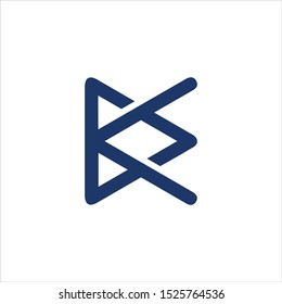 KD or DK and D or K abstract monogram letter mark vector logo template