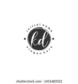 KD Initial beauty monogram logo vector