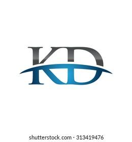 KD initial company blue swoosh logo