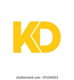 kd initial logo design