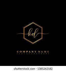 KD Initial luxury handwriting logo vector