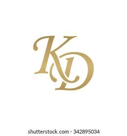 KD initial monogram logo