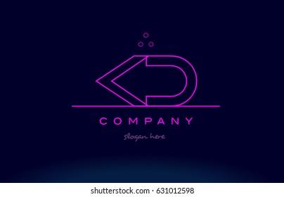 kd k d letter alphabet text pink purple dots contour line creative company logo vector icon design template