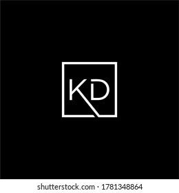 KD letter logo designs premium