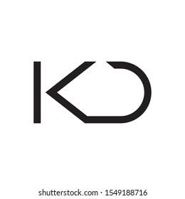 KD letter logo template vector icon design