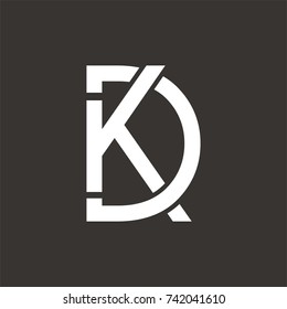 KD  logo or DK logo initial letter design template vector