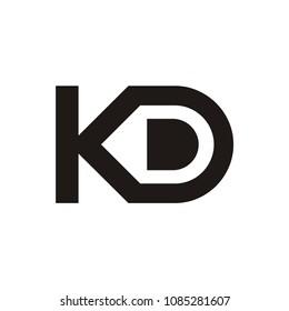 KD logo initial letter design template vector