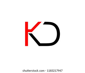 KD logo initial letter design template vector