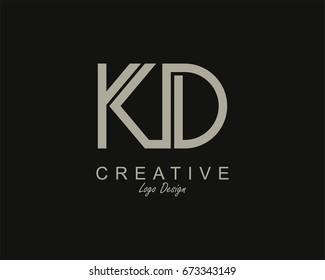 KD Logo. Letter design vector