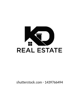 Kd real estate logo VECTOR black and white