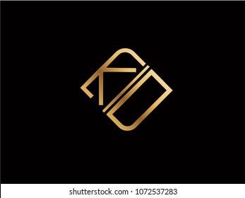 KD square shape Letter logo Design