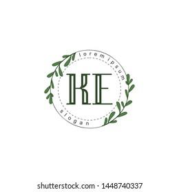 KE Initial beauty floral logo template