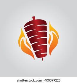Kebab icon, kebab logo