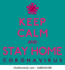 Gardez le coronavirus calme, covid-19, 2019-ncov en format vectoriel.