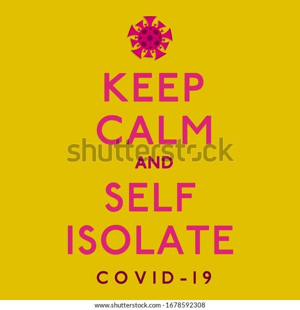 Keep calm coronavirus, covid-19, 2019-ncov sign in vector format.