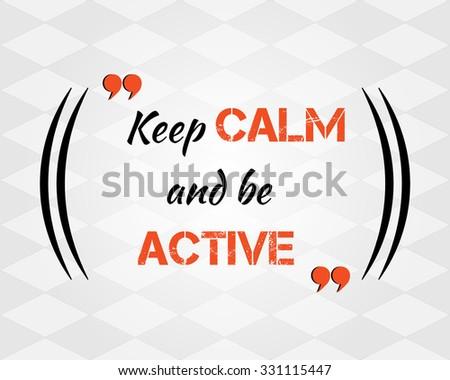 keep calm inspirational quote concept vector stock vector royalty