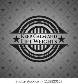 Keep Calm and Lift Weights dark emblem