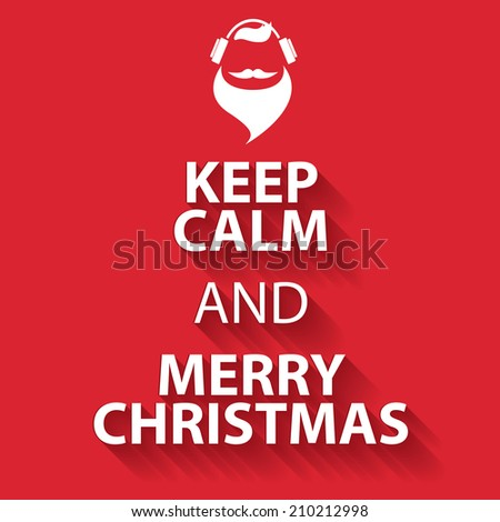 Keep Calm Template | Keep Calm Merry Christmas Design Poster Stock Vector Royalty Free
