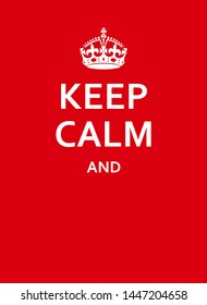 Keep Calm Red Poster With Crown