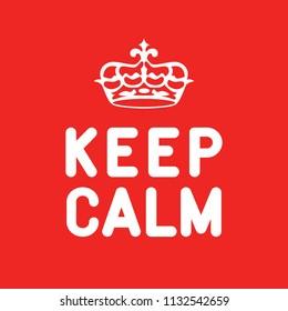 Keep Caln poster, sign, label. Vector illustration