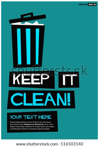 keep clean flat style vector illustration stock vector royalty free