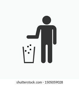 Keep Clean Icon - Vector, Sign and Symbol for Design, Presentation, Website or Apps Elements.
