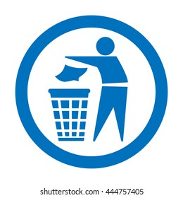 Keep Clean This Area Litter Free Sign