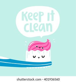 Keep it clean vector card