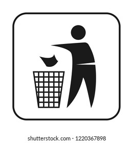 keep the cleanliness cardboard package sign vector icon, modern design, glyph style, modern concept