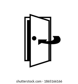 Keep Door Closed Black Icon,Vector Illustration, Isolated On White Background Label. EPS10
