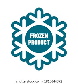 Keep frozen or freeze product vector badge template. This design suitable for food or label.