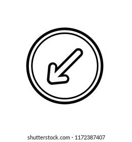 Keep left icon,vector illustration. Flat design style. vector keep left icon illustration isolated on White background, keep left icon Eps10. keep left icons graphic design vector symbols.
