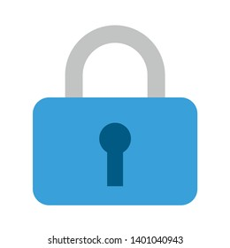 Keep lock sign vector icon. Closed padlock filled flat sign for mobile concept and web design. Hanging Lock glyph icon. Security Lock sign icon. Locker symbol.