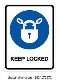 Keep Locked Symbol Sign, Vector Illustration, Isolate On White Background Label .EPS10
