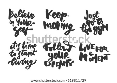 d95ac35585 Follow your dreams. Live for the moment. Inspirational and motivation  quotes. Hand lettering and custom typography for t-shirts