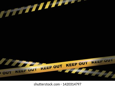 Keep out tapes on black background vector image
