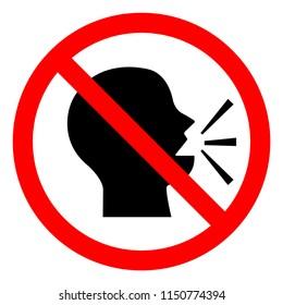 Keep Silence Symbol Sign, Vector Illustration, Isolate On White Background Icon .EPS10