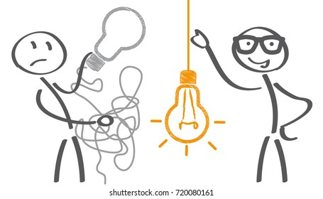 Keep it simple business concept for marketing, creativity, project management. Vector Illustration
