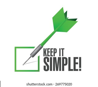 keep it simple check dart sign illustration design over white