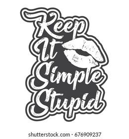 Keep It Simple Stupid Design