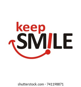 Keep Smile logo design template vector