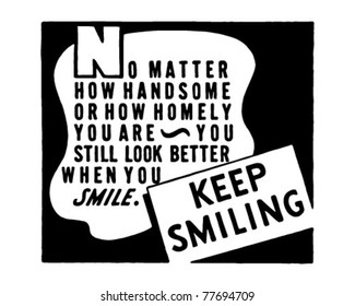 Keep Smiling 2 - Retro Ad Art Banner