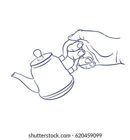 keep teapot in hand